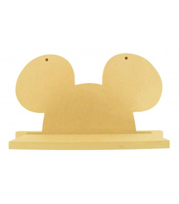 Routered 18mm MDF Quality Flat packed Mouse Ears Shelf