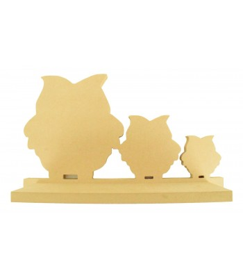 Routered 18mm MDF Quality Flat packed Owl Family Shelf