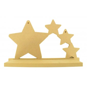 Routered 18mm MDF Quality Flat packed Wooden Shelf Tumbling Stars Shelf SH43