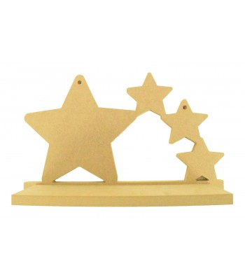 Routered 18mm MDF Quality Flat packed Tumbling Stars Shelf