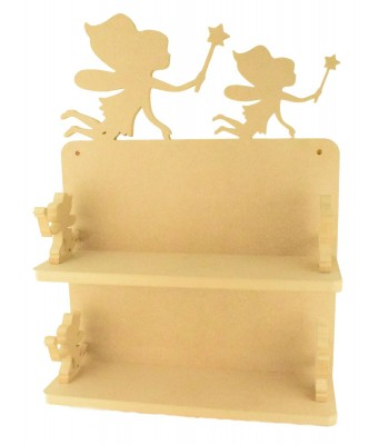 Routered 18mm MDF Quality Flat packed Fairy Design Large DVD Shelf