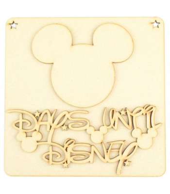 Laser Cut 'Days Until Disney' Countdown Plaque