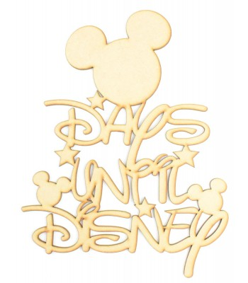 Laser Cut 'Days Until Disney' Countdown Sign