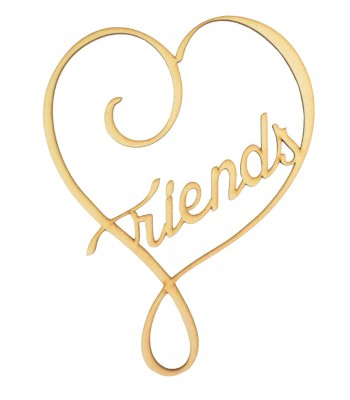 Laser Cut 'Friends' Heart Design