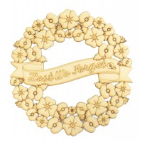 Laser Cut Detailed 'Lest We Forget' Remembrance Poppy Wreath