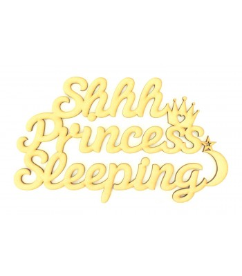Laser Cut 'Shhh Princess Sleeping' Quote Sign
