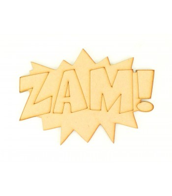 Laser Cut 'ZAM' Superhero Comic Book Word