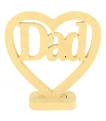 18mm MDF Small Dad Heart on a stand