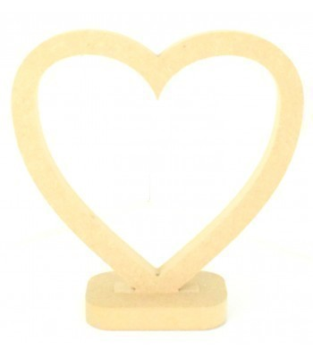 18mm MDF Small Heart Frame on a stand