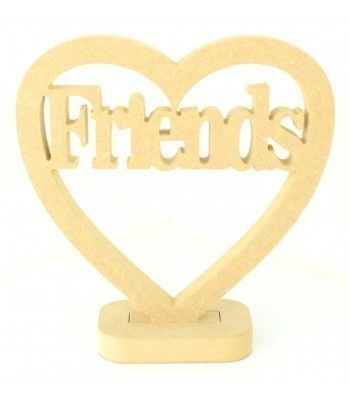 18mm MDF Small Friends Heart on a stand