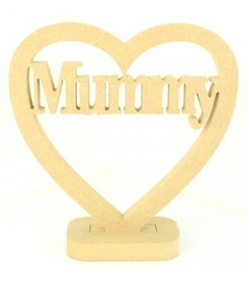 18mm MDF Small Mummy Heart on a stand