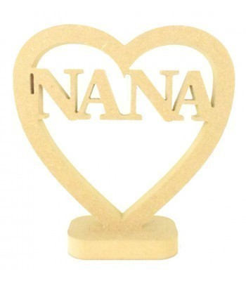 18mm MDF Small Nana Heart on a stand