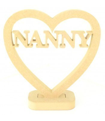 18mm MDF Small Nanny Heart on a stand