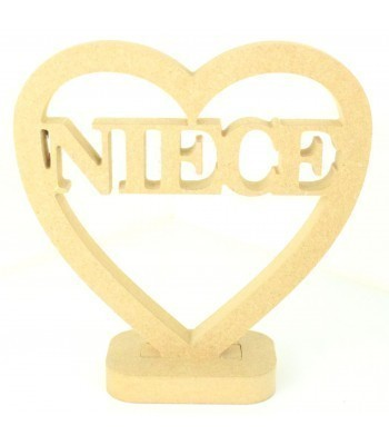 18mm MDF Small Niece Heart on a stand