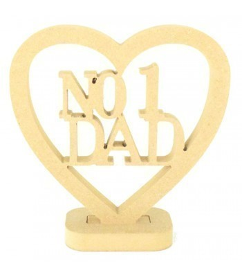 18mm MDF Small No1 Dad Heart on a stand