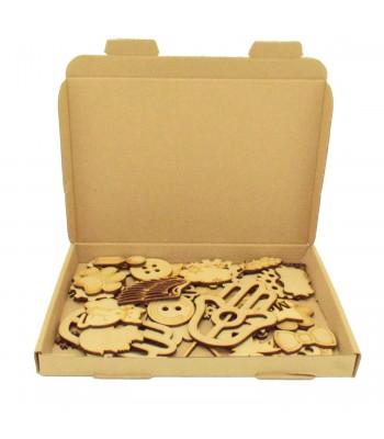 Bargain Box of Mixed Laser cut Shapes