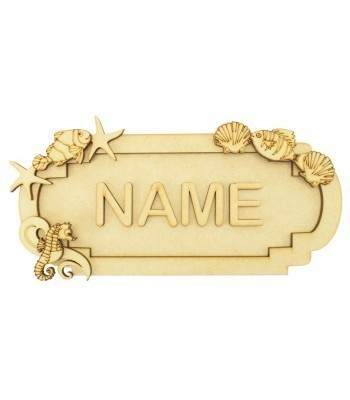 Laser Cut Personalised 3D Fancy Street Sign - Sea Themed - Size Options