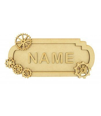 Laser Cut Personalised 3D Fancy Street Sign - Steampunk Themed - Size Options