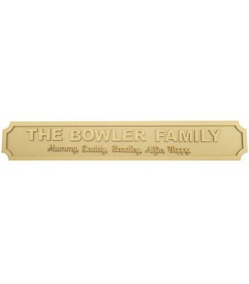 Laser cut Personalised Family Surname and Names 3D Large Street Signs - 3mm/6mm - Curved Corners - 800mm Width