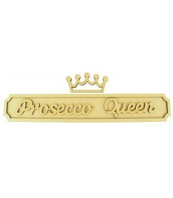 Laser cut Personalised Alcohol Queen 3D Large Street Signs with Crown - 6mm - Curved Corners - 800mm Width