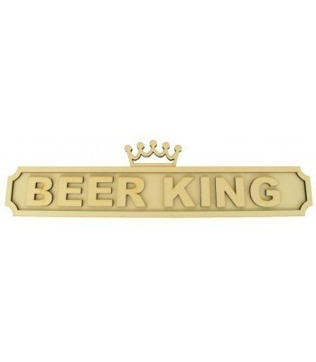 Laser cut Personalised Alcohol King 3D Large Street Signs with Crown - 6mm - Curved Corners - 800mm Width