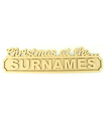 Laser cut Personalised 'Christmas at the...' 3D Large Street Signs with Crown - 6mm - Curved Corners - 800mm Width
