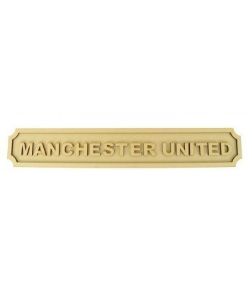 Laser cut Football Team Name 3D Large Street Signs - 6mm - Curved Corners - 800mm Width