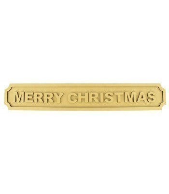 Laser cut 'Merry Christmas' 3D Large Street Signs - 6mm - Curved Corners