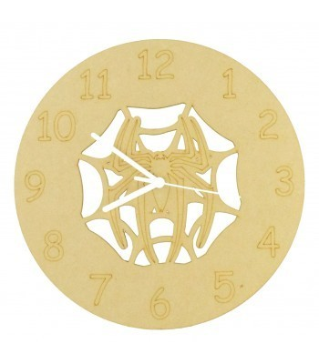 Laser cut Superhero Spider Web Clock with Clock Mechanism