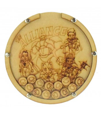 Laser Cut Hand Drawn Superhero The Alliance Childrens Budget Reward Chart Drop Box - Smiley Face Tokens