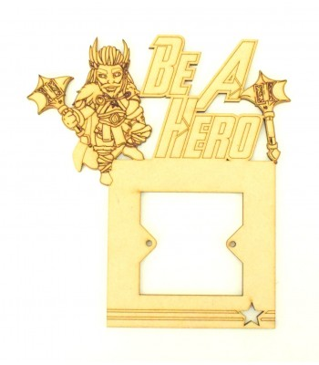 Laser Cut Hand Drawn Superhero 'Be A Hero' Light Switch Surround