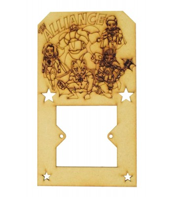 Laser Cut Hand Drawn Superhero 'The Alliance' Light Switch Surround