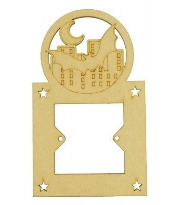 Laser Cut Superhero Bat City Scene Light Switch Surround