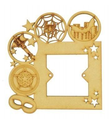 Laser Cut Superhero Logos and Shapes Light Switch Surround