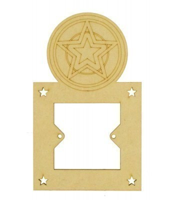 Laser Cut Hand Drawn Superhero Star Logo Light Switch Surround