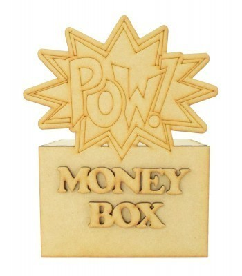 Laser Cut Superhero Comic Book 'Pow' Word Explosion Money Box