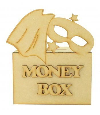 Laser Cut Superhero Cape & Mask Money Box