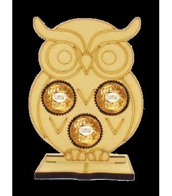 6mm Owl Ferrero Rocher Holder on a Book Shape Stand