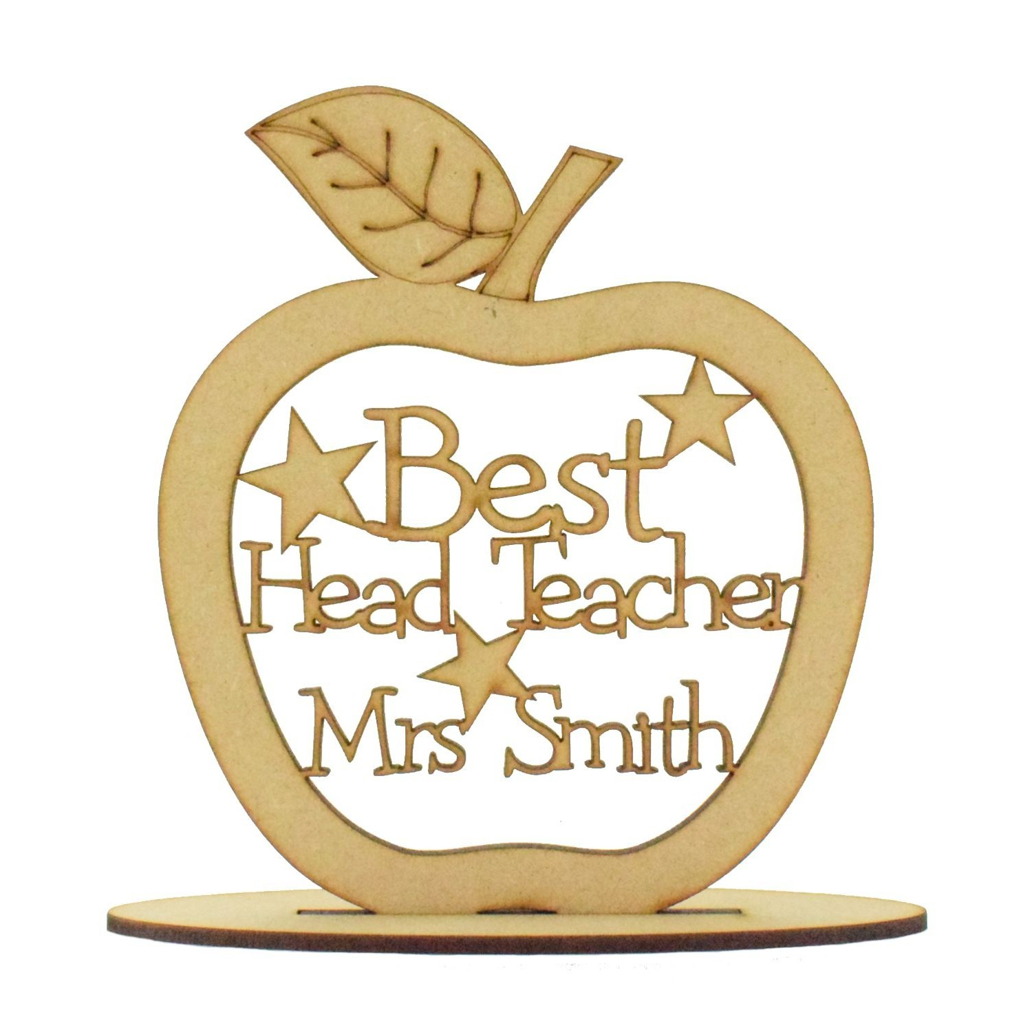 Teachers Gift If teachers were apples i/'d pick you Quote Sign Apple on Stand