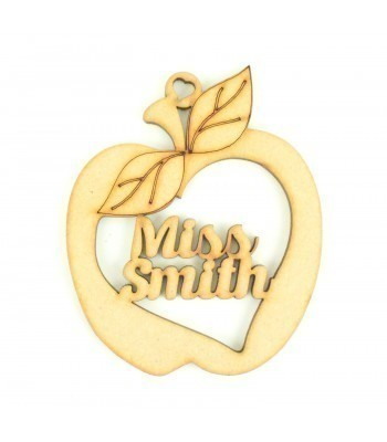 Laser cut Personalised Teachers Name Inside an Apple