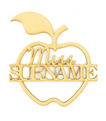 Laser cut Personalised Teachers Split Apple Sign