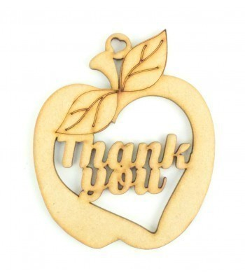 Laser Cut 'Thank you' Apple
