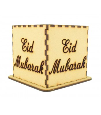 Laser cut Tea Light Box - Eid Mubarak Design