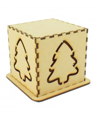 Laser cut Tea Light Box - Christmas Tree Design