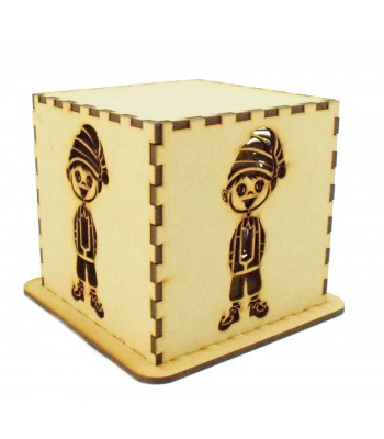 Laser cut Tea Light Box - Christmas Elf Design