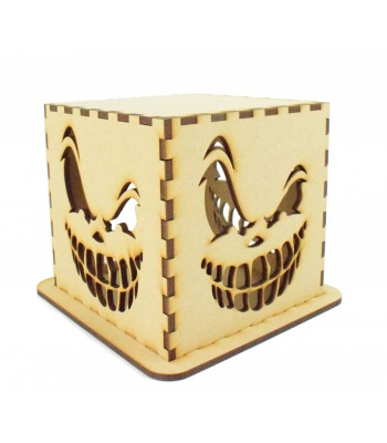 Laser cut Halloween Tea Light Box - Scary Ghoul
