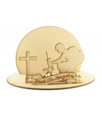Laser Cut 'Lest We Forget' Soldier Memorial Tealight Holder