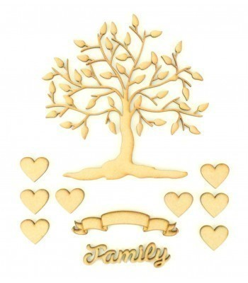 Laser Cut Bargain Box Frame Tree Kit - Set 1