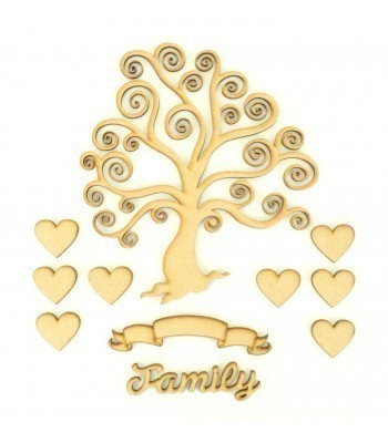 Laser Cut Bargain Box Frame Tree Kit - Set 11
