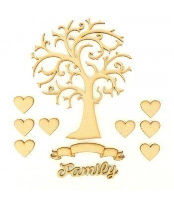 Laser Cut Bargain Box Frame Tree Kit - Set 2